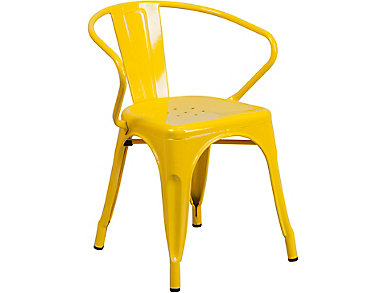 Paso Yellow Arm Dining Chair, , large