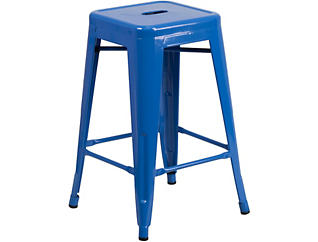 "Waco 24"" Blue Counter Stool, , large"