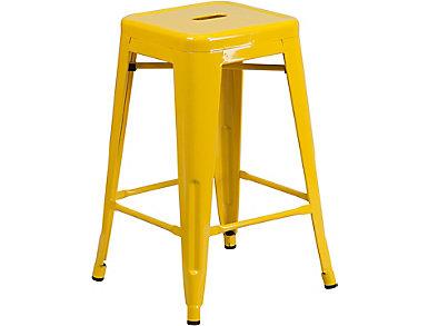 "Waco 24"" Yellow Counter Stool, , large"