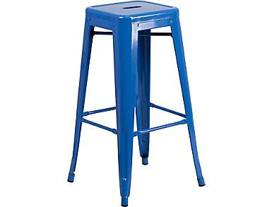 """Waco 30"""" Blue Barstool, , large"""