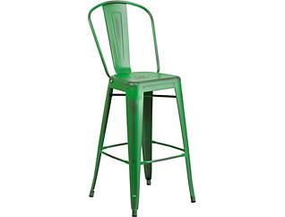 "Mena 30"" Green Barstool, , large"