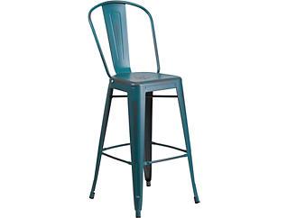 """Mena 30"""" Blue Barstool, , large"""