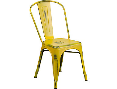 Mena Yellow Dining Chair, , large