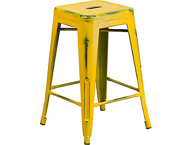 """Port 24"""" Yellow Counter Stool, , large"""