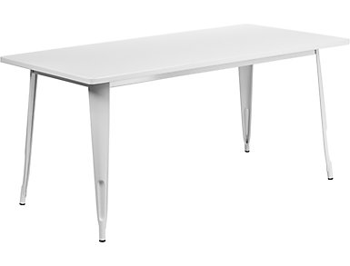 Houston White Dining Table, , large