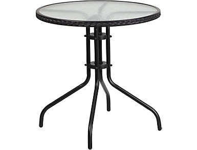 Atmore Black Bistro Table, , large