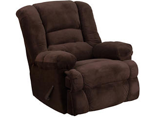 Maia Brown Microfiber Recliner, , large