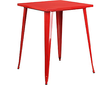 Plano Red Pub Table, , large