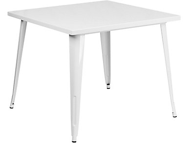 Plano White Dining Table, , large