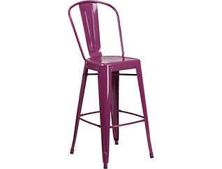 "Paso 30"" Purple Barstool, , large"