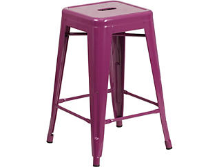 "Waco 24"" Purple Counter Stool, , large"