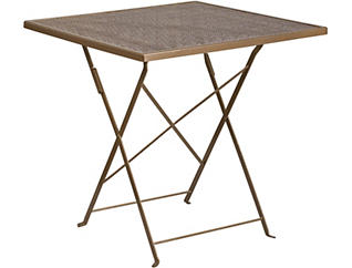 Denton Gold Folding Table, , large