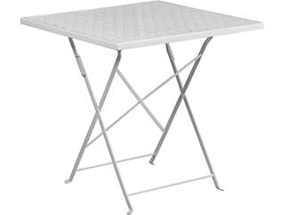 Denton White Folding Table, , large