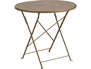 Conroe Gold Folding Table, , large