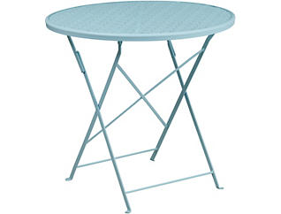 Conroe Sky Blue Folding Table, , large