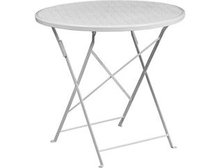 Conroe White Folding Table, , large