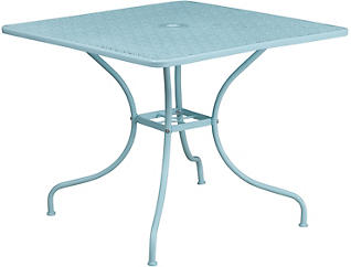 Allen Sky Blue Dining Table, , large