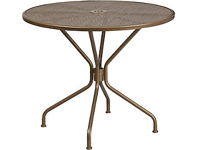 Austin Gold Dining Table, , large