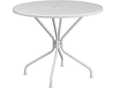 Austin White Dining Table, , large