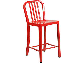 """Hays 24"""" Red Counter Stool, , large"""