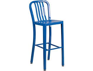 """Hays 30"""" Blue Barstool, , large"""