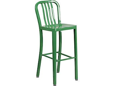 "Hays 30"" Green Barstool, , large"
