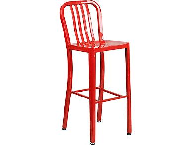 "Hays 30"" Red Barstool, , large"