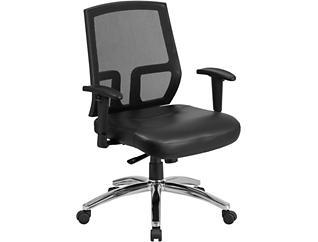 Joe Black Leather Desk Chair, , large