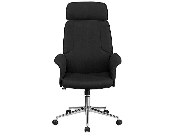Carmen Black Swivel Desk Chair, , large