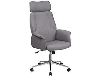 Carmen Grey Swivel Desk Chair, , large
