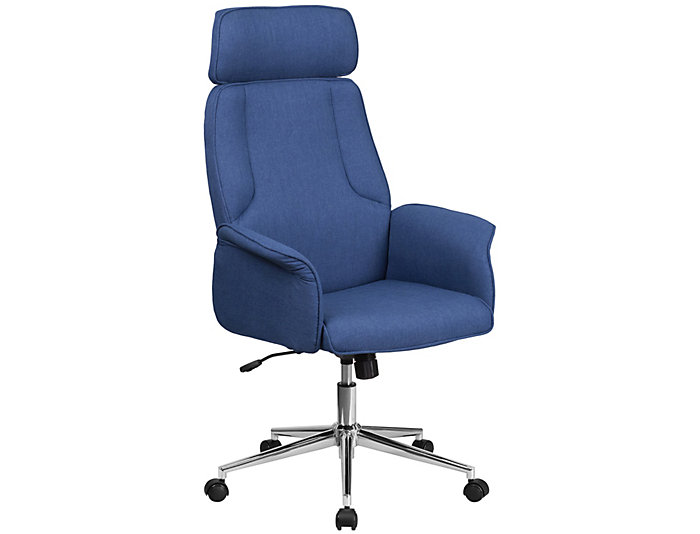 Carmen Blue Swivel Desk Chair, , large