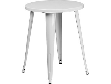 Irving White Dining Table, , large