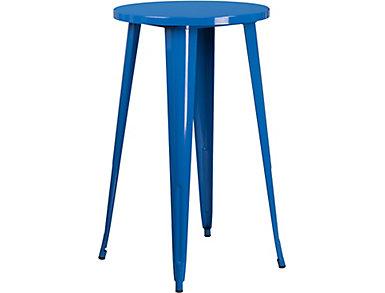 Irving Blue Pub Table, , large