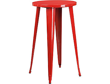 Irving Red Pub Table, , large