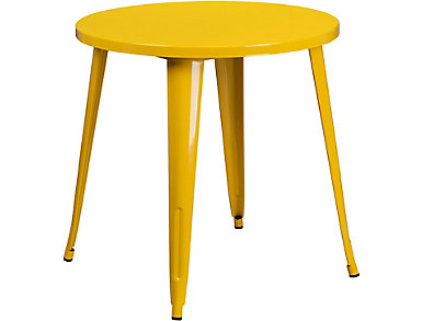 Frisco Yellow Dining Table, , large