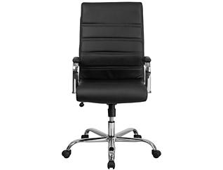 Kaden Black Swivel Desk Chair, Black, large