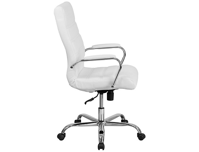 Kaden White Swivel Desk Chair, , large
