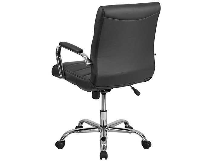 Madison Black Swivel Chair, , large