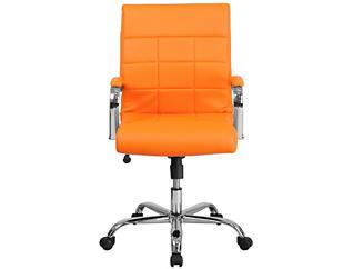 Madison Orange Swivel Chair, Orange, large