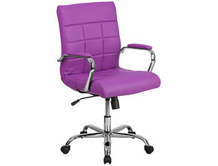 Madison Purple Swivel Chair, , large