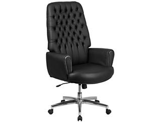 Sam Hi-Back Black Desk Chair, , large