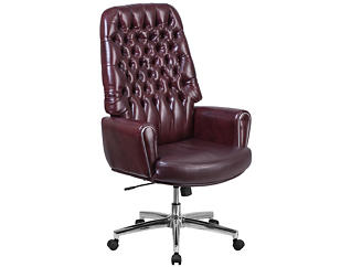 Sam Hi-Back Red Desk Chair, , large