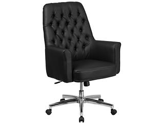Sam Low-Back Black Desk Chair, , large