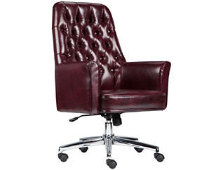 Sam Low-Back Red Desk Chair, , large