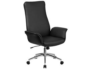 Ali Hi-Back Black Desk Chair, , large