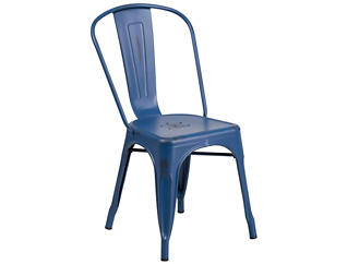 Kennedy Stackable Dining Chair, Blue, , large