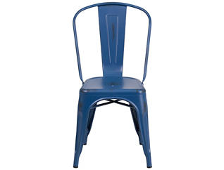 Kennedy Stackable Blue Dining Chair, , large