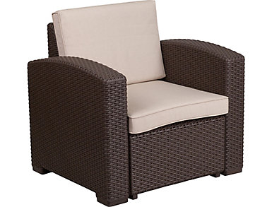 Claire Lounge Chair, Chocolate Brown, , large