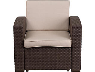 Claire Chocolate Brown Lounge Chair, , large
