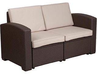 Claire Loveseat, Chocolate Brown, , large